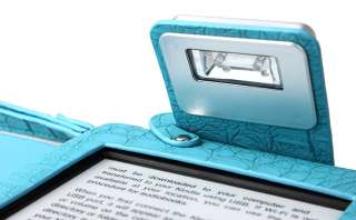 Kindle Touch PU Cover Case Crocodile pattern with built in LED