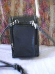 Beautiful Black Soft Leather Compact Organizational Bag