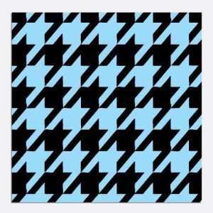 HOUNDSTOOTH PATTERN Blue & Black Craft Vinyl Decals 1 Sheet 12X36 Good