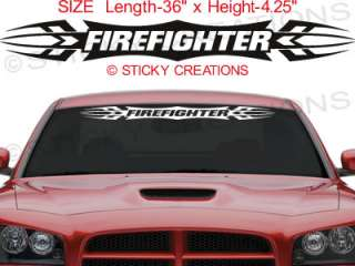 Firefighter Decal Sticker Tribal Flame Vinyl Graphic Design