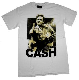 Johnny Cash Flipping The Bird Gold Country Music T Shirt Tee