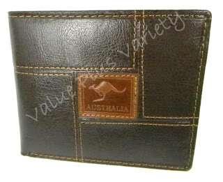 Leather Wallet Purse Mens Australia Souvenir Bi Fold