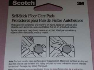 x48 Scotch 3M Self stick Floor Care Pads furniture NEW