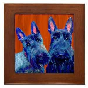 Scottish Terrier Framed Art Tile
