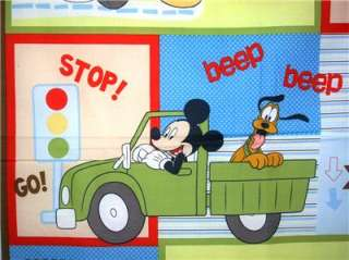 New Mickey Mouse Fabric Panel Disney Pluto