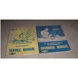 1972 Cheverolet 40 60 Series Truck Service Manual Set gm