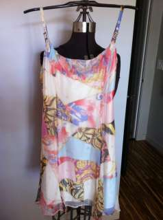 Versace Jeans Couture printed ruffle top dress size S/2, EU 40