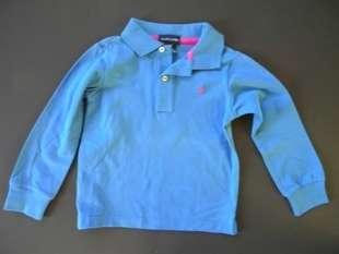 New Ralph Lauren 2 Girls Blue Toddler Polo Shirts Size 4T