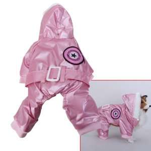 Pink Pet Dog Hoodie Hooded Winter Coat Jacket Jumpsuit