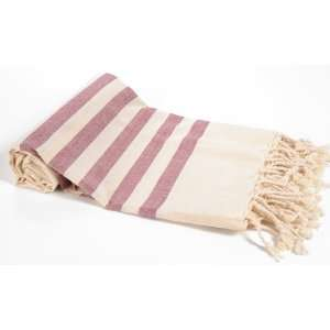 High Quality Cotton Turkish Hammam Pestemal with Terra Cotta Stripes
