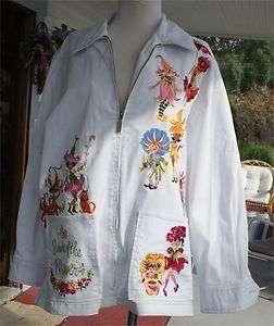 DESIGNER JACKET COAT BOB MACKIE WEARABLE ART PARADE OF FLOWERS