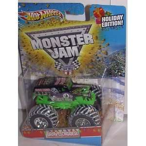 HOT WHEELS CHRISTMAS HOLIDAY EDITION 164 SCALE GRAVE DIGGER MONSTER