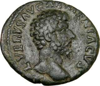 La victoria de LUCIUS VERUS sobre la moneda romana antigua 163AD