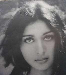1970s Vintage Bollywood Print Actress Poonam Dhillon