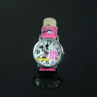 New Cartoon Lovely Mickey Kids Watch Wrist Band Gift for Birthday Dark