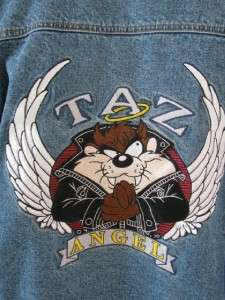WARNER BROS LOONEY TUNES TAZ TAZMANIAN DEVIL ANGEL JEAN DENIM JACKET