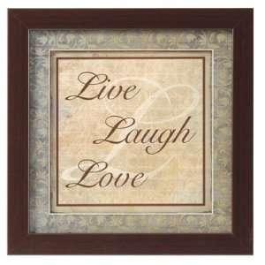 Framed Christian Art Live, Laugh, Love