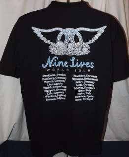 AEROSMITH Nine Lives World Tour Vintage 1998 T Shirt(XL)