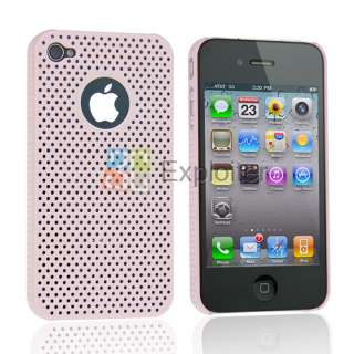 Hot Selling Pink Hard Case Plastic Web Back Shell for iPhone 4