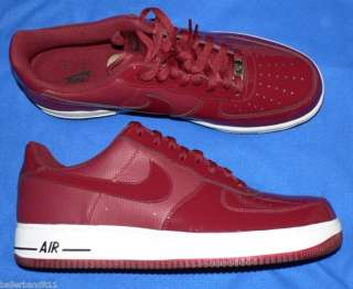 Nike mens Air Force 1 one low shoes team red sneakers