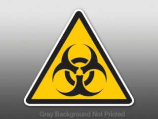 Triangle Biohazard Sticker   decal bumper caution sign