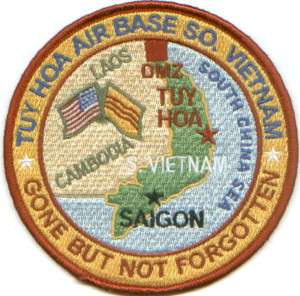 USAF BASE PATCH, TUY HOA AIR BASE SOUTH VIETNAM *