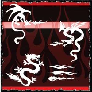 Dragon 8 airbrush stencil template harley paint