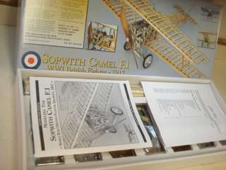 MODEL AIRWAYS SOPWITH CAMEL F1 DETAILED STATIC MODEL AIRPLANE KIT