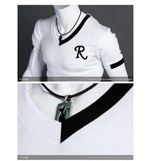 NWT Mens T Shirt Slim fit polo Tee Casual V NECKS Shirts Top R Letter
