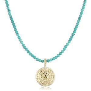 Anna Beck Designs Lombok Turquoise Disk Necklace