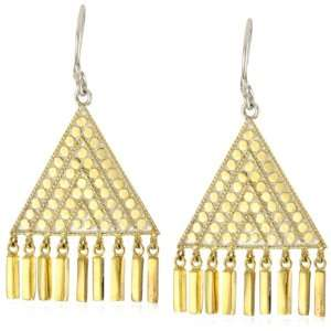 Anna Beck Designs Lombok 18k Gold Plated Triangle Bar Earrings