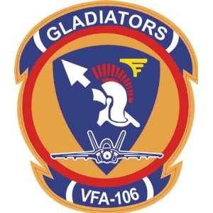 US Navy VFA 106 Gladiators Squadron Decal Sticker 3.8