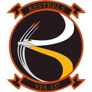 US Navy VFA 137 Kestrels Squadron Decal Sticker 3.8