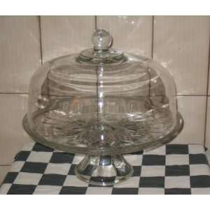 Glass Pedestal Cake Plate with Dome Cover