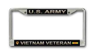 Army 1st Cavalry Div Vietnam Veteran License Frame