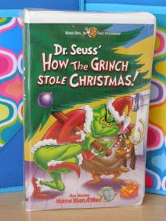 dr suess how the grinch stole christmas vhs nip - How The Grinch Stole Christmas Vhs