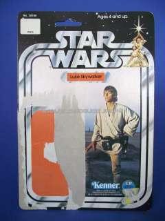 VINTAGE 1977 12C Luke Skywalker 3 3/4 Action Figure Cardback