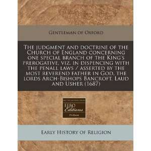 The judgment and doctrine of the Church of England