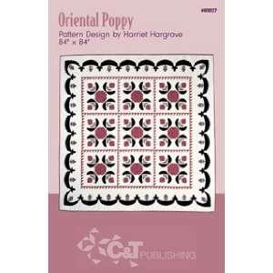 Oriental Poppy Quilt Pattern By Harriet Hargrave: Home & Kitchen