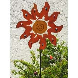 Hand Painted Metal Sculpture Garden Stake Yard Art 2201