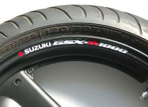 SUZUKI GSXR 1000 WHEEL RIM STICKERS k5 k6 k7 k8 k9 k10