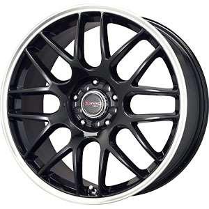 New 16X7 5 108/5 112 Drag Dr34 Gloss Black Machined Lip Wheels/Rims