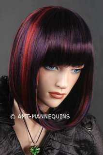 Synthetic hair wig w/ highlights for party girls   #422