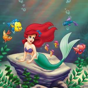 Disney Little Mermaid Ariel with Fish Button B DIS 0271 Toys & Games