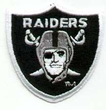 Old OAKLAND RAIDERS LOGO SHIELD STITCHED PATCH Unused