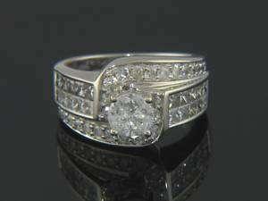 OUTSTANDING 14K WG 2ctw DIAMOND ENGAGEMENT WEDDING RING