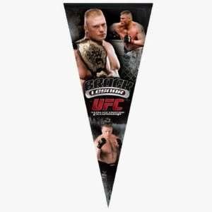 UFC BROCK LESNAR GIANT SIZED PREMIUM FELT PENNANT Sports