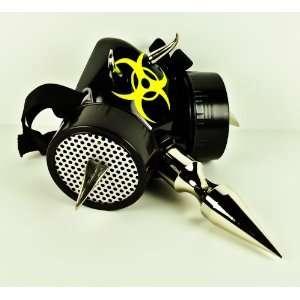 Spike Bio Hazard Gas Mask Respirator Industrial Goth