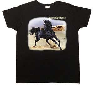 shirt or Tank Top * Black Arabian Horse Womans Tee Shirt