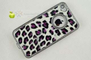 New Luxury Bling Diamond Crystal Leopard Case Back Cover For Apple